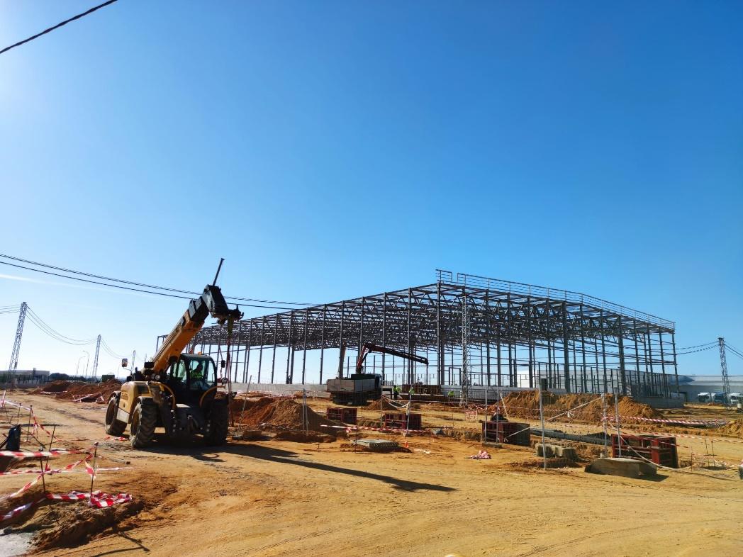 Obras en el centro logístico de Mercadona en Huévar del Aljarafe